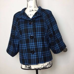 NWOT Limited checkered pea coat